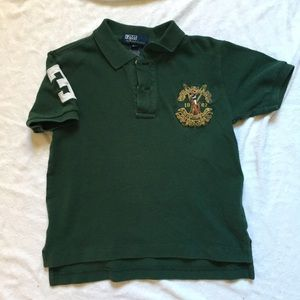Ralph Lauren Boys Crested Green Rugby Polo Shirt 4